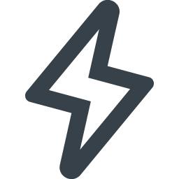 電気 カミナリマークの無料アイコン素材 4 商用可の無料 フリー のアイコン素材をダウンロードできるサイト Icon Rainbow