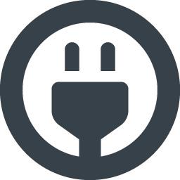 丸枠のコンセントプラグマークの無料アイコン 商用可の無料 フリー のアイコン素材をダウンロードできるサイト Icon Rainbow