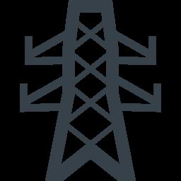 送電線の鉄塔の無料アイコン素材 2 商用可の無料 フリー のアイコン素材をダウンロードできるサイト Icon Rainbow