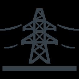 送電線の鉄塔の無料アイコン素材 5 商用可の無料 フリー のアイコン素材をダウンロードできるサイト Icon Rainbow