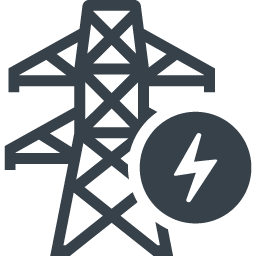 送電線の鉄塔の無料アイコン素材 6 商用可の無料 フリー のアイコン素材をダウンロードできるサイト Icon Rainbow