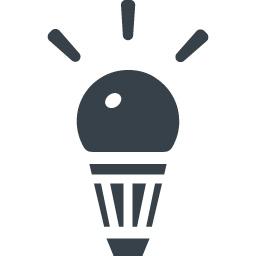 Led電球の無料アイコン素材 1 商用可の無料 フリー のアイコン素材をダウンロードできるサイト Icon Rainbow