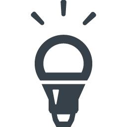 Led電球の無料アイコン素材 2 商用可の無料 フリー のアイコン素材をダウンロードできるサイト Icon Rainbow