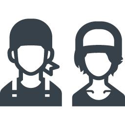 おしゃれなカフェ店員の無料アイコン素材 3 商用可の無料 フリー のアイコン素材をダウンロードできるサイト Icon Rainbow