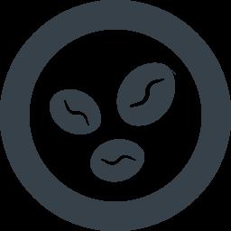 コーヒー豆の無料アイコン素材 2 商用可の無料 フリー のアイコン素材をダウンロードできるサイト Icon Rainbow