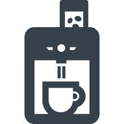 コーヒーメーカーの無料アイコン素材 1 商用可の無料 フリー のアイコン素材をダウンロードできるサイト Icon Rainbow