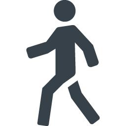 歩く人のシルエットアイコン素材 2 商用可の無料 フリー のアイコン素材をダウンロードできるサイト Icon Rainbow