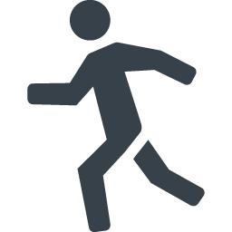 走る人のシルエットアイコン素材 商用可の無料 フリー のアイコン素材をダウンロードできるサイト Icon Rainbow