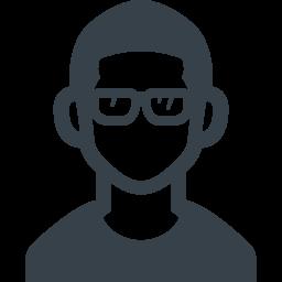 眼鏡をかけた男性の無料アイコン素材 商用可の無料 フリー のアイコン素材をダウンロードできるサイト Icon Rainbow