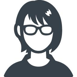 メガネをかけた女性の無料アイコン素材 商用可の無料 フリー のアイコン素材をダウンロードできるサイト Icon Rainbow