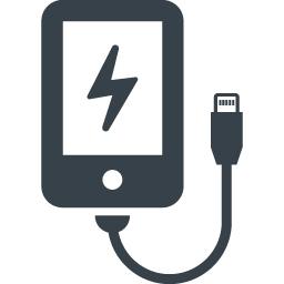 スマホの充電の無料アイコン素材 3 商用可の無料 フリー のアイコン素材をダウンロードできるサイト Icon Rainbow