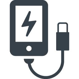 スマホの充電の無料アイコン素材 4 商用可の無料 フリー のアイコン素材をダウンロードできるサイト Icon Rainbow