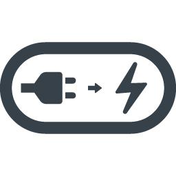 電源から充電の無料アイコン 2 商用可の無料 フリー のアイコン素材をダウンロードできるサイト Icon Rainbow