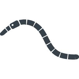 ミミズの無料アイコン素材 2 商用可の無料 フリー のアイコン素材をダウンロードできるサイト Icon Rainbow