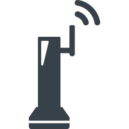 無線のwifiルーターの無料アイコン素材 1 商用可の無料 フリー のアイコン素材をダウンロードできるサイト Icon Rainbow