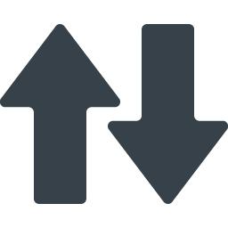 データ通信 送受信の矢印無料アイコン 1 商用可の無料 フリー のアイコン素材をダウンロードできるサイト Icon Rainbow