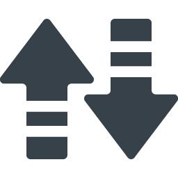 データ通信 送受信の矢印無料アイコン 2 商用可の無料 フリー のアイコン素材をダウンロードできるサイト Icon Rainbow