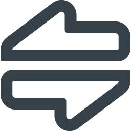 データ通信 送受信の矢印無料アイコン 4 商用可の無料 フリー のアイコン素材をダウンロードできるサイト Icon Rainbow