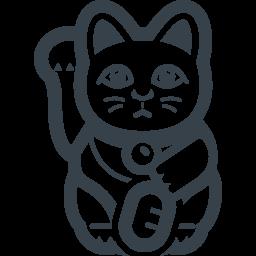 招き猫 右手 の無料アイコン素材 2 商用可の無料 フリー のアイコン素材をダウンロードできるサイト Icon Rainbow