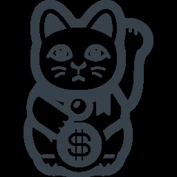 アメリカの招き猫の無料アイコン素材 商用可の無料 フリー のアイコン素材をダウンロードできるサイト Icon Rainbow