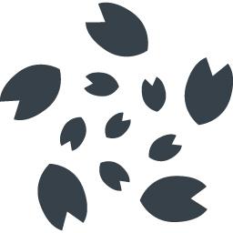 桜の花びら大回転の無料アイコン素材 商用可の無料 フリー のアイコン素材をダウンロードできるサイト Icon Rainbow