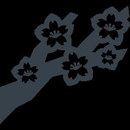 桜の枝の無料アイコン素材 1 商用可の無料 フリー のアイコン素材をダウンロードできるサイト Icon Rainbow