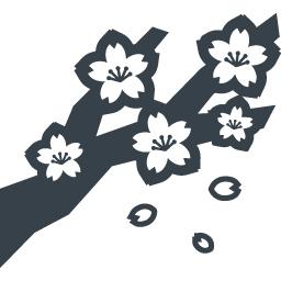 散り始めた桜の無料アイコン素材 商用可の無料 フリー のアイコン素材をダウンロードできるサイト Icon Rainbow