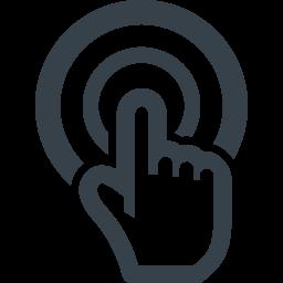 スマホ操作 タップの無料アイコン素材 1 商用可の無料 フリー のアイコン素材をダウンロードできるサイト Icon Rainbow