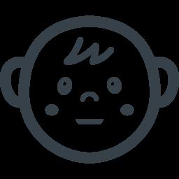 赤ちゃんの顔の無料アイコン素材 3 商用可の無料 フリー のアイコン素材をダウンロードできるサイト Icon Rainbow