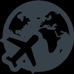 飛行機と地球のフリーアイコン素材 1 商用可の無料 フリー のアイコン素材をダウンロードできるサイト Icon Rainbow