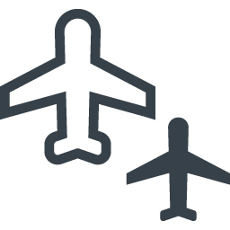 飛行機とその影の無料アイコン素材 商用可の無料 フリー のアイコン素材をダウンロードできるサイト Icon Rainbow