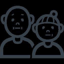 おじいちゃんとおばあちゃんの無料アイコン素材 2 商用可の無料 フリー のアイコン素材をダウンロードできるサイト Icon Rainbow