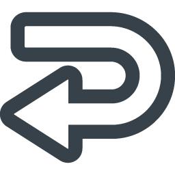 ターン バックするの矢印アイコン素材 3 商用可の無料 フリー のアイコン素材をダウンロードできるサイト Icon Rainbow