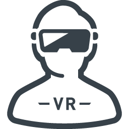 仮想現実のゴーグルと人のアイコン素材 1 商用可の無料 フリー のアイコン素材をダウンロードできるサイト Icon Rainbow