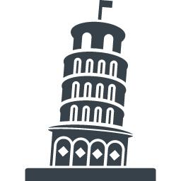 ピサの斜塔の無料アイコン素材 2 商用可の無料 フリー のアイコン素材をダウンロードできるサイト Icon Rainbow