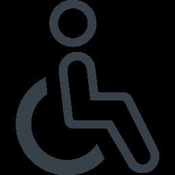 車椅子 身体障害のマークの無料素材 2 商用可の無料 フリー のアイコン素材をダウンロードできるサイト Icon Rainbow