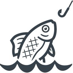 魚釣りの無料イラストアイコン素材 2 商用可の無料 フリー のアイコン素材をダウンロードできるサイト Icon Rainbow
