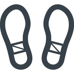 靴の足跡の無料アイコン素材 3 商用可の無料 フリー のアイコン素材をダウンロードできるサイト Icon Rainbow