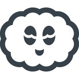 もくもく雲ちゃんのアイコン 商用可の無料 フリー のアイコン素材をダウンロードできるサイト Icon Rainbow