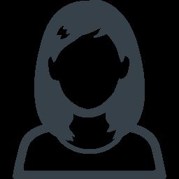 ロングヘアーの女の人の無料アイコン素材 2 商用可の無料 フリー のアイコン素材をダウンロードできるサイト Icon Rainbow