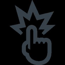 ズバリの指差しアイコン素材 商用可の無料 フリー のアイコン素材をダウンロードできるサイト Icon Rainbow