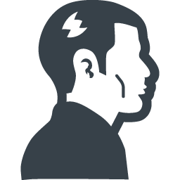 ロックっぽい人の横顔アイコン素材 商用可の無料 フリー のアイコン素材をダウンロードできるサイト Icon Rainbow