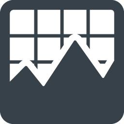 モニター グラフのアイコン 商用可の無料 フリー のアイコン素材をダウンロードできるサイト Icon Rainbow