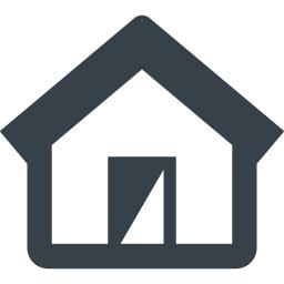 シンプルな家のフリーアイコン素材 7 商用可の無料 フリー のアイコン素材をダウンロードできるサイト Icon Rainbow