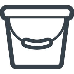 バケツのアイコン 商用可の無料 フリー のアイコン素材をダウンロードできるサイト Icon Rainbow
