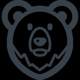 クマのアイコン素材 2 商用可の無料 フリー のアイコン素材をダウンロードできるサイト Icon Rainbow
