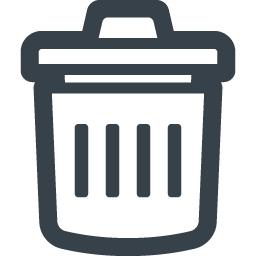 シンプルなゴミ箱のアイコン素材 2 商用可の無料 フリー のアイコン素材をダウンロードできるサイト Icon Rainbow