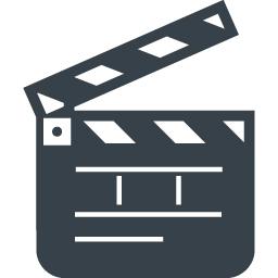 映画のカチンコのアイコン 1 商用可の無料 フリー のアイコン素材をダウンロードできるサイト Icon Rainbow