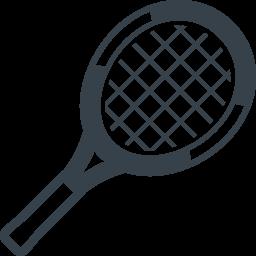 テニスラケットのアイコン 1 商用可の無料 フリー のアイコン素材をダウンロードできるサイト Icon Rainbow
