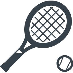 テニスラケットのアイコン 2 商用可の無料 フリー のアイコン素材をダウンロードできるサイト Icon Rainbow